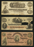 Confederate Notes:1862 Issues, Three Confederate C-Notes.. ... (Total: 3 notes)