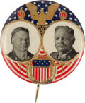 "Political:Pinback Buttons (1896-present), Hoover & Curtis: A Rare, Colorful 1¼"" Jugate Design...."