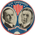 "Political:Pinback Buttons (1896-present), Coolidge & Dawes: A Dramatic 6"" Jugate Button Rarity...."