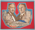 Political:Small Paper (1896-present), Smith & Robinson: A Marvelous, Colorful Die-Cut Jugate Cardboard Window Sign. ...