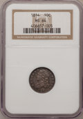 Bust Dimes: , 1814 10C Large Date MS64 NGC. NGC Census: (36/26). PCGS Population(25/6). Mintage: 421,500. Numismedia Wsl. Price for prob...