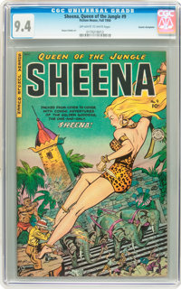 Sheena, Queen of the Jungle #9 Cosmic Aeroplane pedigree (Fiction House, 1950) CGC NM 9.4 Off-white to white pages