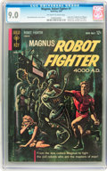 Silver Age (1956-1969):Science Fiction, Magnus Robot Fighter #1 (Gold Key, 1963) CGC VF/NM 9.0 Off-white towhite pages....