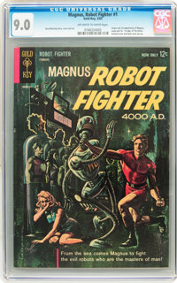 Magnus Robot Fighter #1 (Gold Key, 1963) CGC VF/NM 9.0 Off-white to white pages