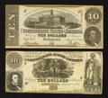 Confederate Notes:Group Lots, T30 $10 1861.. T59 $10 1863.. ... (Total: 2 notes)