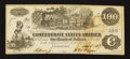 Confederate Notes:1862 Issues, Low Serial Number T39 $100 1862.. ...