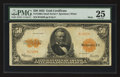 Large Size:Gold Certificates, Fr. 1200a $50 Mule 1922 Gold Certificate PMG Very Fine 25.. ...