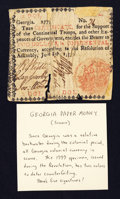 Colonial Notes:Georgia, Georgia June 8, 1777 $2 About Good.. ...
