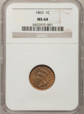 1863 1C MS64 NGC. NGC Census: (558/201). PCGS Population (651/177). Mintage: 49,840,000. Numismedia Wsl. Price for probl...