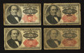 Fractional Currency:Fifth Issue, 25¢ Fifth Issue Notes.. ... (Total: 4 notes)