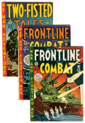 Golden Age (1938-1955):War, Two-Fisted Tales/Frontline Combat Group (EC, 1950s) Condition:Average GD+.... (Total: 15 Comic Books)