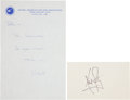 Autographs:Celebrities, Neil Armstrong Signature and Autograph Note Signed. ... (Total: 2Items)