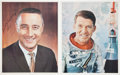 """Autographs:Celebrities, """"Mercury Seven"""" Astronauts: Collection of Signed Material....(Total: 6 Items)"""