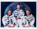 Autographs:Celebrities, Apollo 11 Crew-Signed Color Glossy White Spacesuit Photo. ...