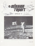 Autographs:Celebrities, Apollo 11 Crew-Signed NASA Mission Report....