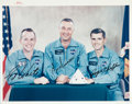Autographs:Celebrities, Apollo 1 Crew-Signed Color NASA Glossy Photo from the PersonalCollection of Mission Pilot Roger Chaffee....