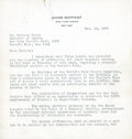 Baseball Collectibles:Others, 1938 Jacob Ruppert Signed Letter to Christy Walsh....