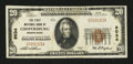 National Bank Notes:Pennsylvania, Coopersburg, PA - $20 1929 Ty. 1 The First NB Ch. # 9034. ...