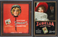 Movie/TV Memorabilia:Memorabilia, Lucille Ball's Vintage Cigarette Ad Framed Displays.... (Total: 2 )