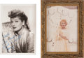 Movie/TV Memorabilia:Autographs and Signed Items, Lucille Ball Photos, One Inscribed by Lucy.... (Total: 2 )
