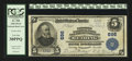 National Bank Notes:Pennsylvania, Reading, PA - $5 1902 Plain Back Fr. 598 Farmers NB & TC Ch. #696. ...