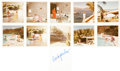 Movie/TV Memorabilia:Autographs and Signed Items, Lucille Ball Annotated Acapulco Vacation Snapshots.... (Total: 11 )