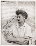 Movie/TV Memorabilia:Autographs and Signed Items, Lucille Ball Autographed Photo....