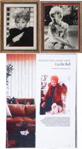 Movie/TV Memorabilia:Photos, Lucille Ball Vintage Framed Photo Portraits.... (Total: 2 )