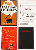 Movie/TV Memorabilia:Autographs and Signed Items, Artie Shaw and Others Signed Volumes.... (Total: 4 )