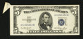 Error Notes:Attached Tabs, Fr. 1655 $5 1953 Silver Certificate. Extremely Fine.. ...