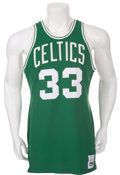 Basketball Collectibles:Uniforms, Early 1980's Larry Bird Game Worn Boston Celtics Jersey....