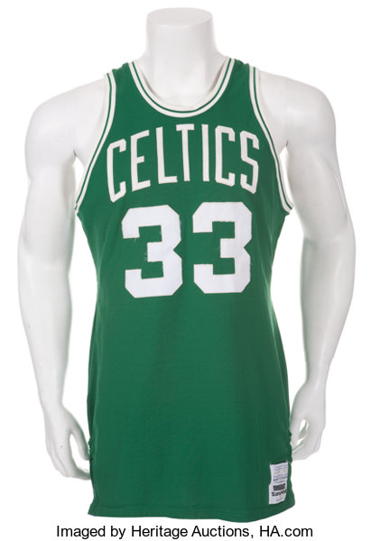 save off e9bd3 fb8c7 Early 1980's Larry Bird Game Worn Boston Celtics Jersey ...