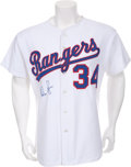 Baseball Collectibles:Uniforms, 1991 Nolan Ryan Seventh No-Hitter Game Worn Jersey with Ryan Letter....