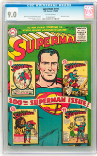 Superman #100 (DC, 1955) CGC VF/NM 9.0 Off-white pages