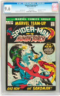 Marvel Team-Up #1 Spider-Man and Human Torch (Marvel, 1972) CGC NM+ 9.6 White pages
