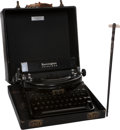 Movie/TV Memorabilia:Memorabilia, Edgar G. Ulmer's Baton and Typewriter.... (Total: 2 )