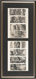 Movie/TV Memorabilia:Memorabilia, Edgar G. Ulmer's Storyboards for The Naked Dawn....