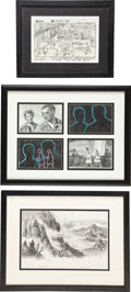 Movie/TV Memorabilia:Original Art, One From the Heart Storyboard Art.... (Total: 3 )