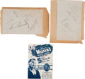 Music Memorabilia:Autographs and Signed Items, Glenn Miller Band Autograph Group (circa 1942).... (Total: 3 Items)
