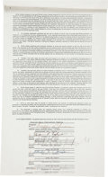 Music Memorabilia:Autographs and Signed Items, Jackson 5 Signed Contract.... (Total: 2 )