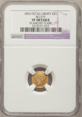 California Fractional Gold: , 1853 $1 Liberty Octagonal 1 Dollar, BG-519, Low R.4,--PlanchetFlaw--NGC Details. VF. NGC Census: (1/20). PCGS Population (...