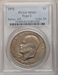 Eisenhower Dollars, 1972 $1 Type Two MS63 PCGS. PCGS Population (436/442). Numismedia Wsl. Price for problem free NGC/PCGS ...