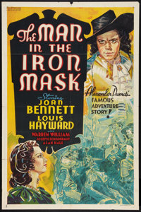 """The Man in the Iron Mask (United Artists, 1939). Other Company One Sheet (27"""" X 41""""). Adventure"""