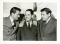 """Baseball Collectibles:Photos, 1942 Babe Ruth, Gary Cooper and Christy Walsh Original Promotional Photograph from """"Pride of the Yankees""""...."""