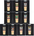 Baseball Cards:Sets, 1958 Hires Root Beer Baseball Mid To High Grade Complete Set (66). ...