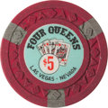 Miscellaneous:Gaming Chips, Four Queens $5 Chip, 1st Series, R-9: A Tough Chip in Very NiceCondition....