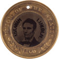 Political:Ferrotypes / Photo Badges (pre-1896), Lincoln & Hamlin: A Rare Ferrotype Variant with Names in LargeHeavy Letters....