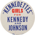 Political:Pinback Buttons (1896-present), Kennedy & Johnson: One of the Rarest 1960 Slogan Buttons....