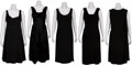 Movie/TV Memorabilia:Costumes, Edie Adams Personal Black Dresses.... (Total: 5 Items)