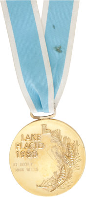 "1980 U.S. Hockey ""Miracle on Ice"" Olympic Gold Medal Presented to Mark Wells"